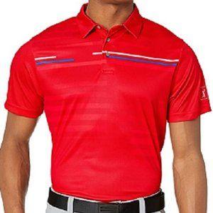 PGA Tour Men's Shadow Stripe Print Short Sleeve